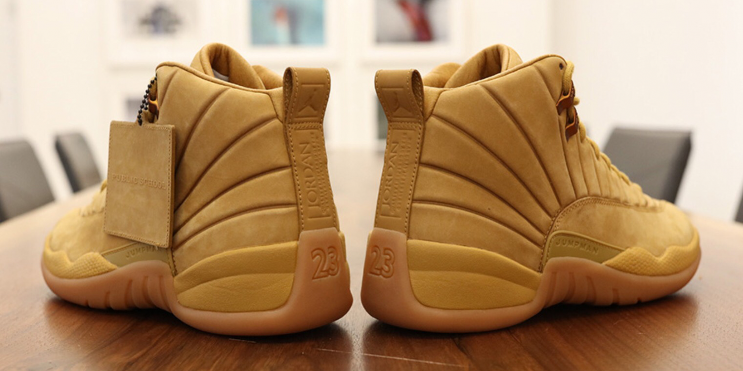 "e0a52304797901 Detailed Look At PSNY x Air Jordan 12 ""Wheat"" Releasing This Year ..."