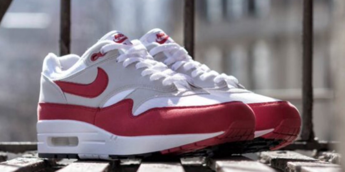 save off d5dd7 eda2b On Feet Photos of the Nike Air Max 1 University Red OG  Anniversary