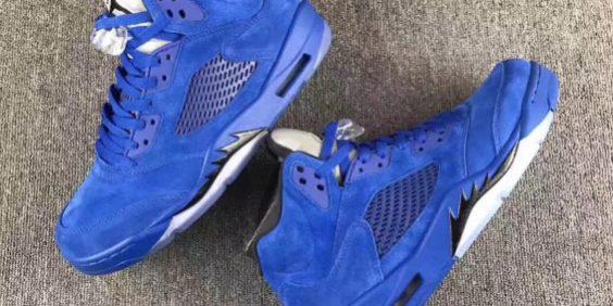 b7e236b8636fcf The Air Jordan 5 Blue Suede Arrives This Summer – TIP SOLVER