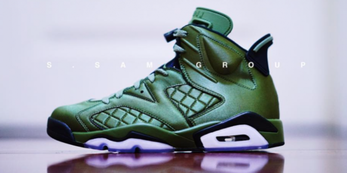 bd1f6703cf67c2 Olive Green Covers The Air Jordan 6 Pinnacle Flight Jacket. Another look at  ...