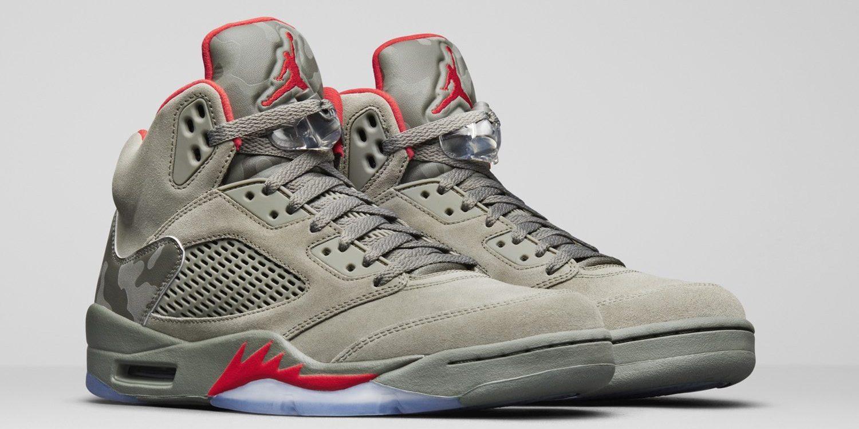 "0d0a512e57f 2017 Sneaker ReleasesJordanNewsNikeSneaker Releases. Air Jordan 5 ""Camo""    Release  Date"