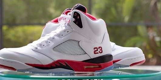 """on sale a9daa 62621 SP Sole Shouts: Nike Air Jordan [5] V """"Fire Red"""" – TIP SOLVER"""