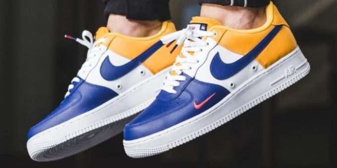 100% authentic 8a970 4da14 An On-Feet Look At The Nike Air Force 1 Low Mini Swoosh FC Barcelona