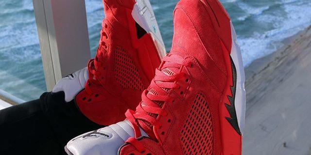 "SP Sole Shouts  The Nike Air Jordan  5  V ""Flight Suit"" On Feet ... 70e2597f44"