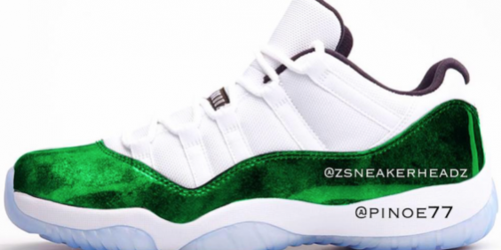 f1e6d2383ce ... uk an air jordan 11 low emerald green is rumored to be releasing for  f5877 b9b46
