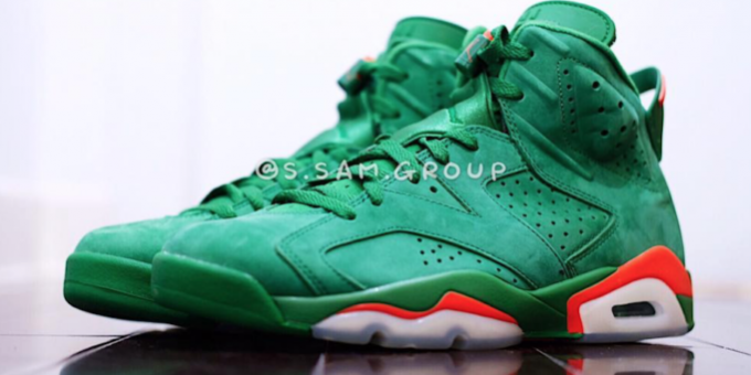 afe5d7dd60926 Our Best Look Yet At The Air Jordan 6 Gatorade Green – TIP SOLVER