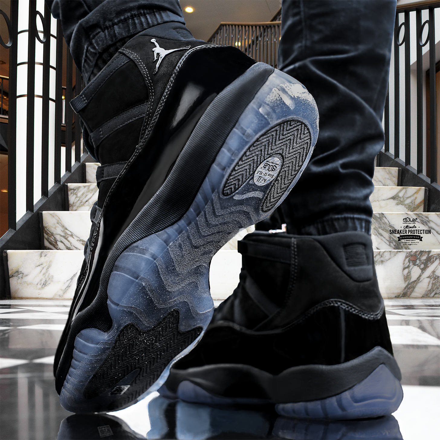 "AIR JORDAN XI ""CAP AND GOWN"" WITH SOLE PROTECTOR® - PICS  78a56630259"