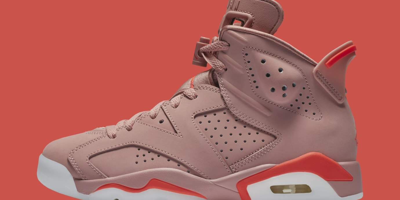 "Aleali May x Air Jordan 6 ""Rust Pink"" March Release Date Confirmed ... c4e43d168"