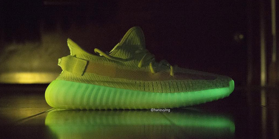 "cde0d6ef Detailed Look At The Highly Anticipated Yeezy Boost 350 V2 ""Glow In The Dark """