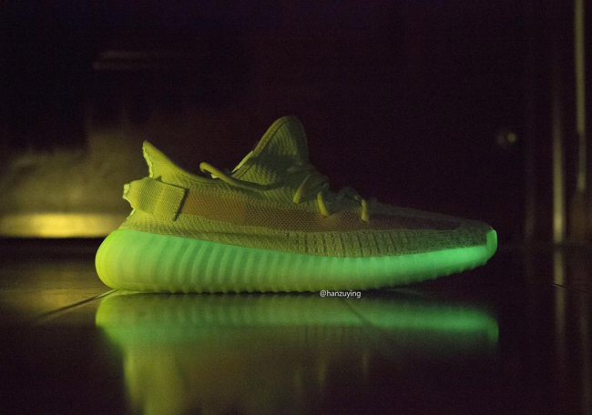 "84fea784ee7 Detailed Look At The Highly Anticipated Yeezy Boost 350 V2 ""Glow In The  Dark"""