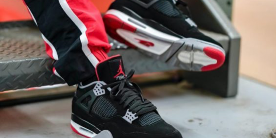 """sneakers for cheap 6ce6d ce350 On Feet With The 2019 Air Jordan 4 """"Bred."""" – TIP SOLVER"""