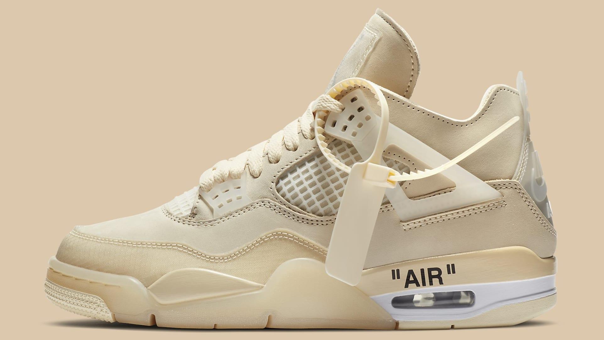 Jordan Brand Off White Jordan 4 Retro SP Sail/Muslin/White